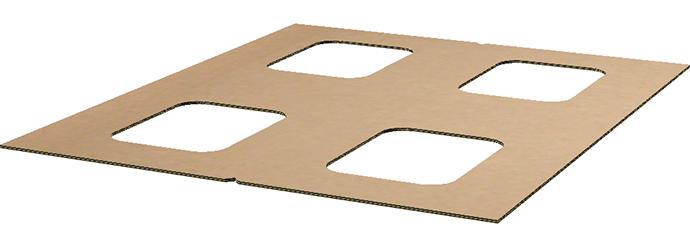 pallet jack accessible cardboard pallet bottom