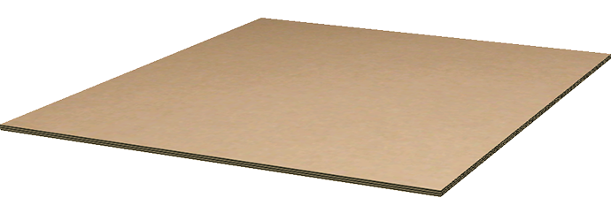 corrugated triple wall pallet top deck